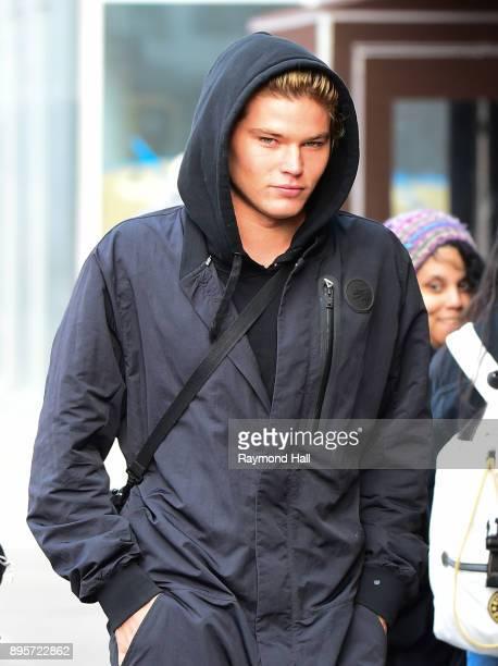 Model Jordan Barrett is seen walking in Soho on December 19 2017 in New York City