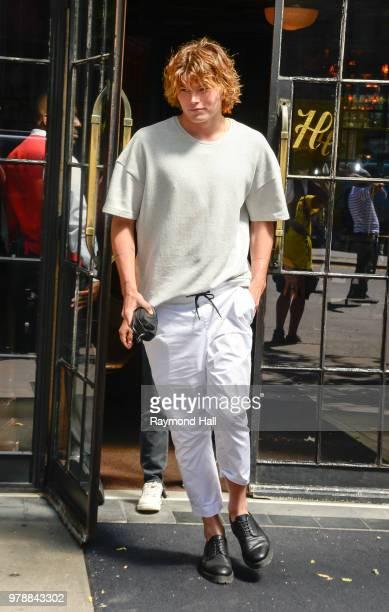 Model Jordan Barrett is seen walking in soho on June 19 2018 in New York City