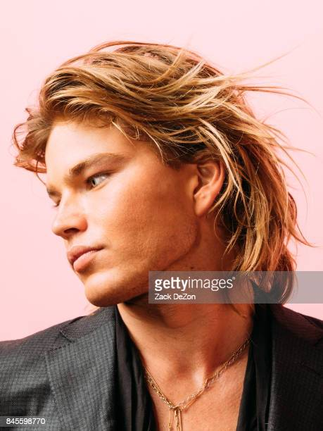 74e17156 Model Jordan Barrett poses for a portrait during the Daily Front Row's  Fashion Media Awards at. Editorial use only