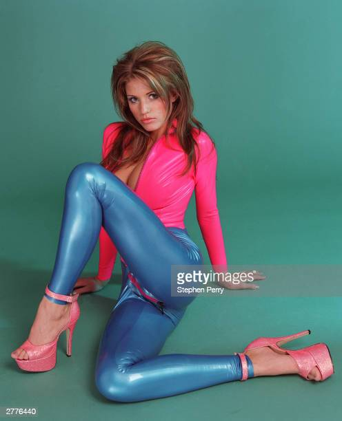 Model Jordan poses during a photoshoot held in 1999 in England