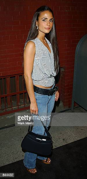 Model Jordana Brewster arrives for Entertainment Weekly's First Annual It List Party June 24 2002 at Milk Studios in New York City Photo by Mark...