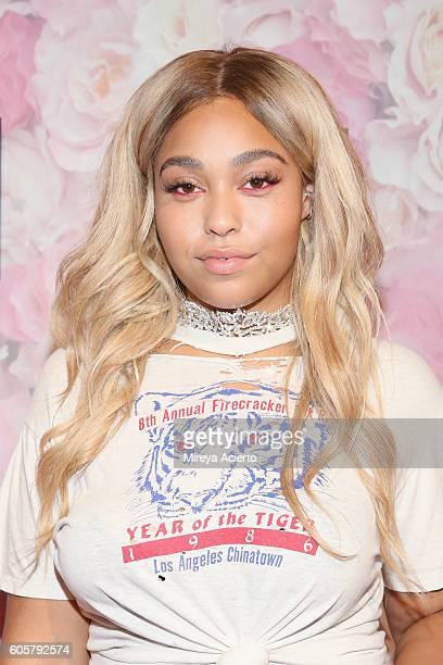 Model Jordyn Woods attends the Addition Elle/Ashley Graham Lingerie Collection fashion show during the Holiday 2016 Style 360 NYFW at Metropolitan...
