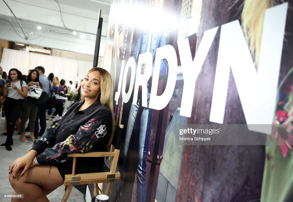 Model Jordyn Woods poses for a photo at the Jordyn Woods meet & greet at Addition Elle on September 13, 2017 in New York City.