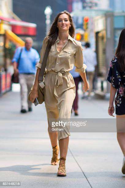 Model Josephine Le Tutour attends call backs for the 2017 Victoria's Secret Fashion Show in Midtown on August 22, 2017 in New York City.