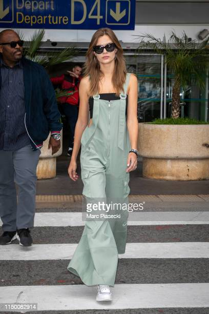 Model Josephine Skriver arrives ahead the 72nd annual Cannes Film Festival at Nice Airport on May 18 2019 in Nice France