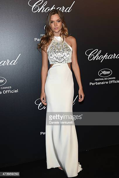 Model Josephine Skriver attends a celebrity party during the 68th annual Cannes Film Festival on May 18 2015 in Cannes France