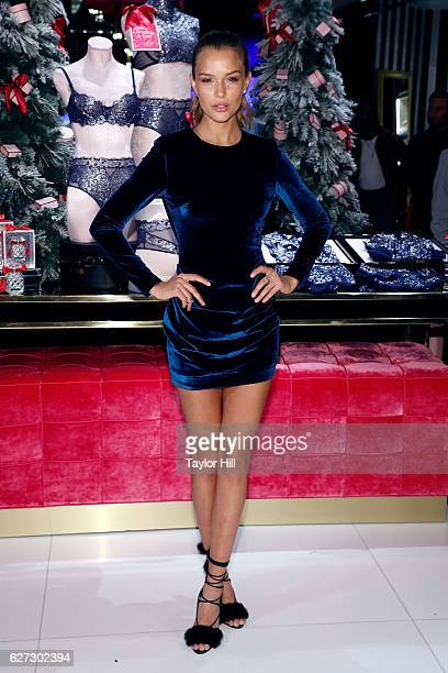 Model Josephine Skriver attends a photocall at Victoria's Secret 5th Ave on December 2 2016 in New York City
