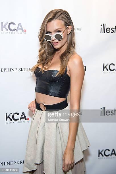 Model Josephine Skriver attends Josephine Skriver x Illesteva Benefiting Keep a Child Alive at Illesteva on October 25 2016 in New York City