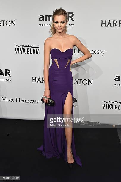 Model Josephine Skriver attends the 2015 amfAR New York Gala at Cipriani Wall Street on February 11 2015 in New York City