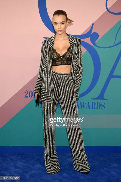 Model Josephine Skriver attends the 2017 CFDA Fashion Awards at Hammerstein Ballroom on June 5 2017 in New York City