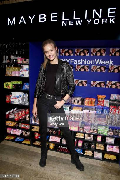 Model Josephine Skriver attends the Maybelline New York x V Magazine Party at the Nomo Soho Hotel on February 11 2018 in New York City