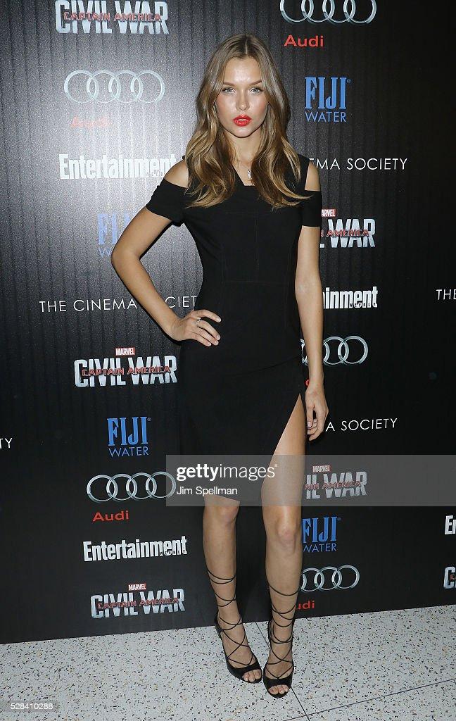 "The Cinema Society With Audi & FIJI Host A Screening Of Marvel's ""Captain America: Civil War"" - Arrivals : News Photo"