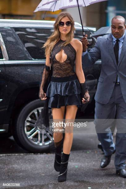 Model Josephine Skriver is seen going to fittings for the 2017 Victoria's Secret Fashion Show in Midtown on August 29 2017 in New York City