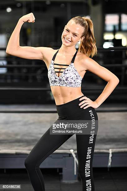 Model Josephine Skriver participates in the Victoria's Secret Train Like an Angel event on November 2 2016 in New York City