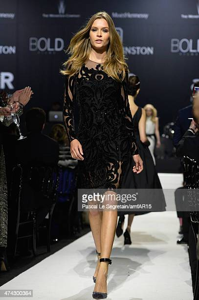 Model Josephine Skriver walks during the fashion show runway during amfAR's 22nd Cinema Against AIDS Gala Presented By Bold Films And Harry Winston...