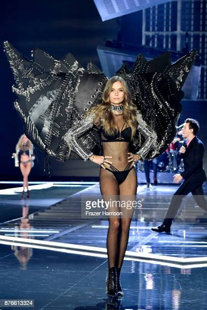 Model Josephine Skriver walks the runway during the 2017 Victoria's Secret Fashion Show In Shanghai at MercedesBenz Arena on November 20 2017 in...