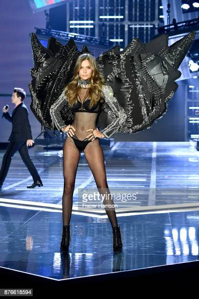 Model Josephine Skriver walks the runway during the 2017 Victoria's Secret Fashion Show In Shanghai at Mercedes-Benz Arena on November 20, 2017 in...