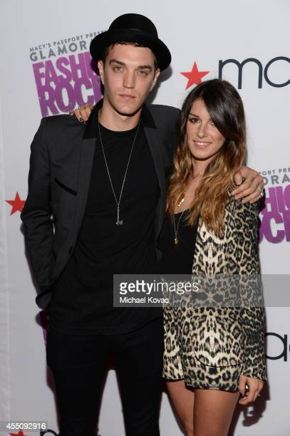 Model Josh Beech and actress Shenae Grimes attend Glamorama 'Fashion Rocks' presented by Macy's Passport at Create Nightclub on September 9 2014 in...