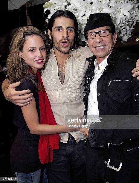 Model Josie Maran and designers Ali Alborzi and Manny Mashouf attend Smashbox Cosmetics' Kick Off LA Mercedes Benz Fashion Week at Mr Chow on October...