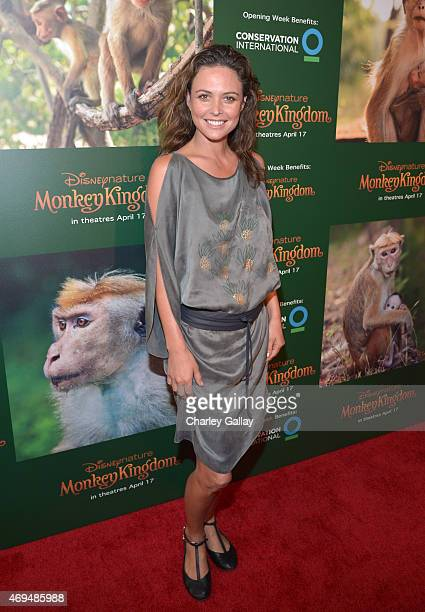 Model Josie Maran attends the world premiere Of Disney's Monkey Kingdom at Pacific Theatres at The Grove on April 12 2015 in Los Angeles California