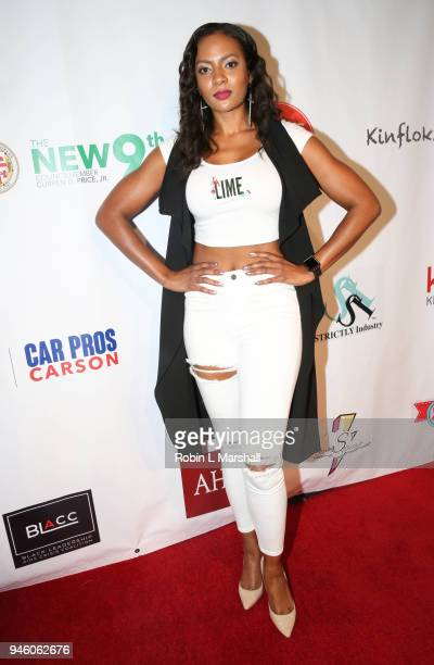 Model Joslyn Pennywell attends the 12th Annual Santee High School Fashion Show at Los Angeles Trade Technical College on April 13 2018 in Los Angeles...