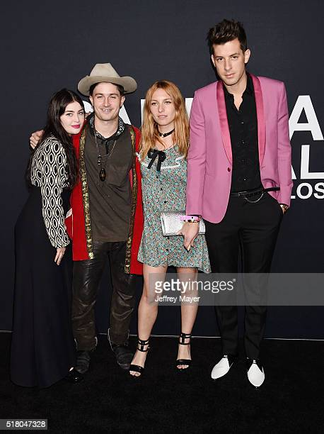 Model Joséphine de La Baume and recording artist Mark Ronson attend the Saint Laurent show at The Hollywood Palladium on February 10 2016 in Los...