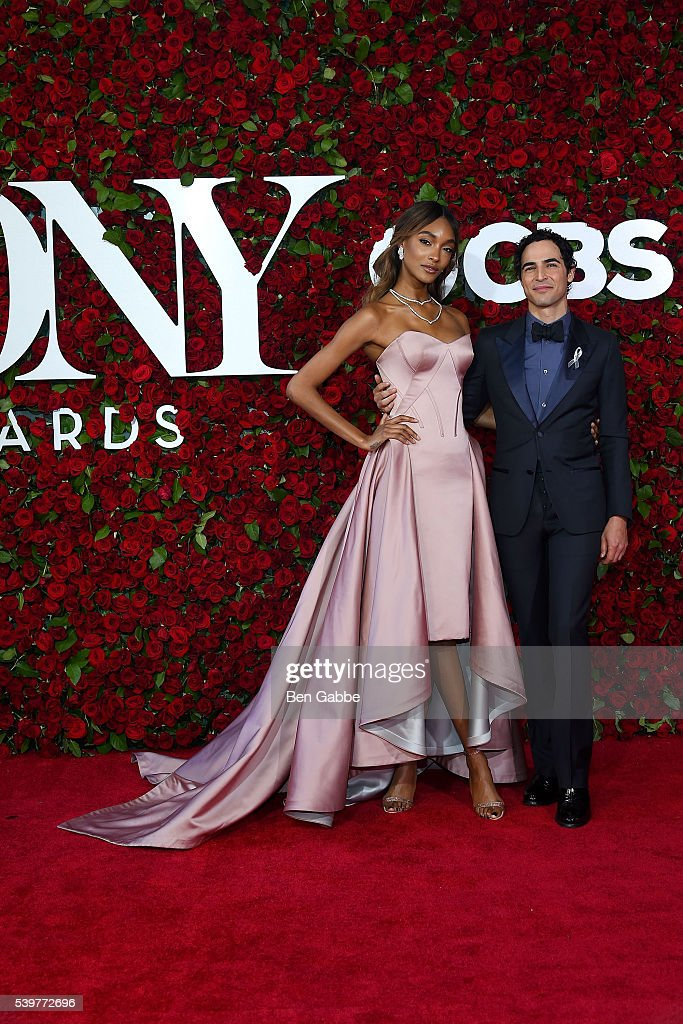Model Jourdan Dunn (L) and fashion designer Zac Posen attend the 70th Annual Tony Awards at The Beacon Theatre on June 12, 2016 in New York City.
