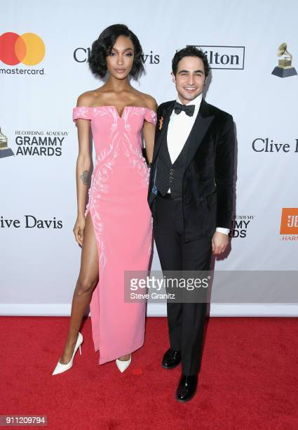 Model Jourdan Dunn and fashion designer Zac Posen attend the Clive Davis and Recording Academy PreGRAMMY Gala and GRAMMY Salute to Industry Icons...