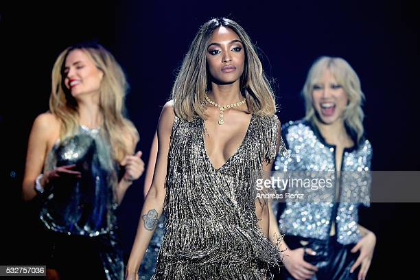 Model Jourdan Dunn appears on stage at the amfAR's 23rd Cinema Against AIDS Gala at Hotel du Cap-Eden-Roc on May 19, 2016 in Cap d'Antibes, France.
