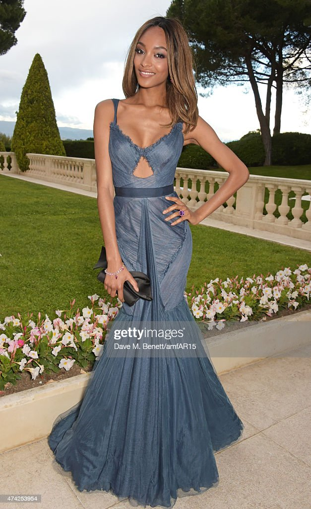 Model Jourdan Dunn arrives at amfAR's 22nd Cinema Against AIDS Gala, Presented By Bold Films And Harry Winston at Hotel du Cap-Eden-Roc on May 21, 2015 in Cap d'Antibes, France.