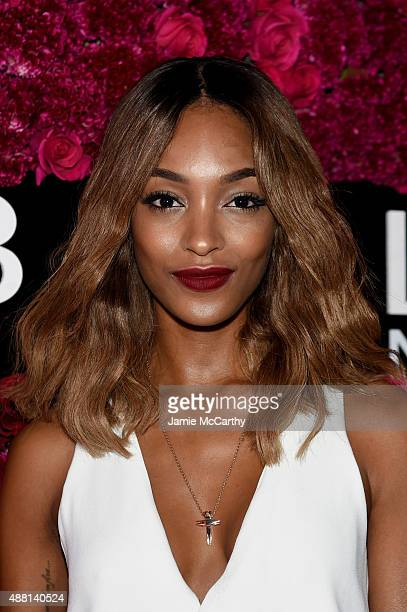 Model Jourdan Dunn attends Maybelline New York Celebrates New York Fashion Week at Sixty Five on September 13 2015 in New York City