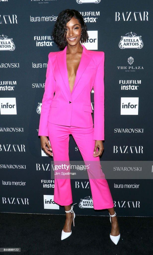Model Jourdan Dunn attends the 2017 Harper's Bazaar Icons at The Plaza Hotel on September 8, 2017 in New York City.