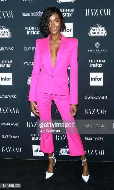 Model Jourdan Dunn attends the 2017 Harper's Bazaar Icons at The Plaza Hotel on September 8 2017 in New York City