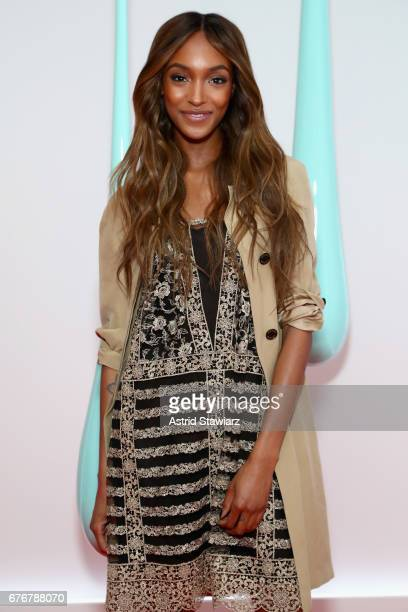 Model Jourdan Dunn attends the launch of the Burberry DK88 Bag hosted by Christopher Bailey at Burberry Soho on May 2 2017 in New York City
