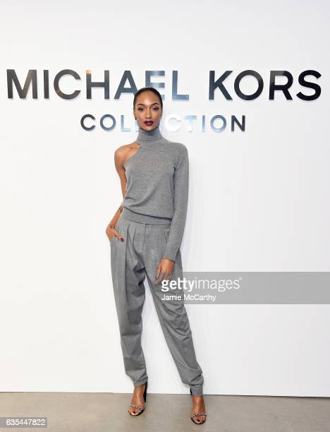 Model Jourdan Dunn attends the Michael Kors Collection Fall 2017 runway show at Spring Studios on February 15 2017 in New York City