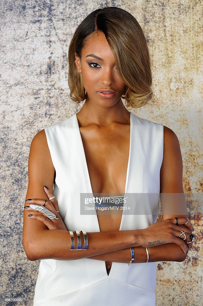 Model Jourdan Dunn attends the MTV EMA's 2014 at The Hydro on November 9, 2014 in Glasgow, Scotland.