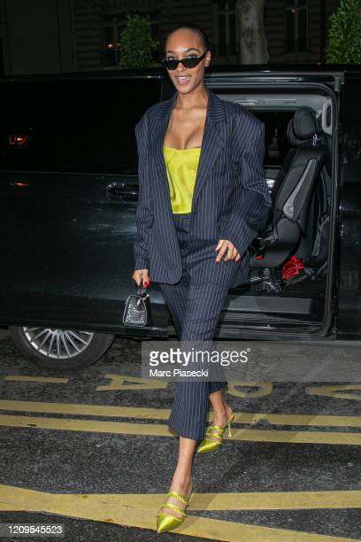 Model Jourdan Dunn is seen on February 29 2020 in Paris France