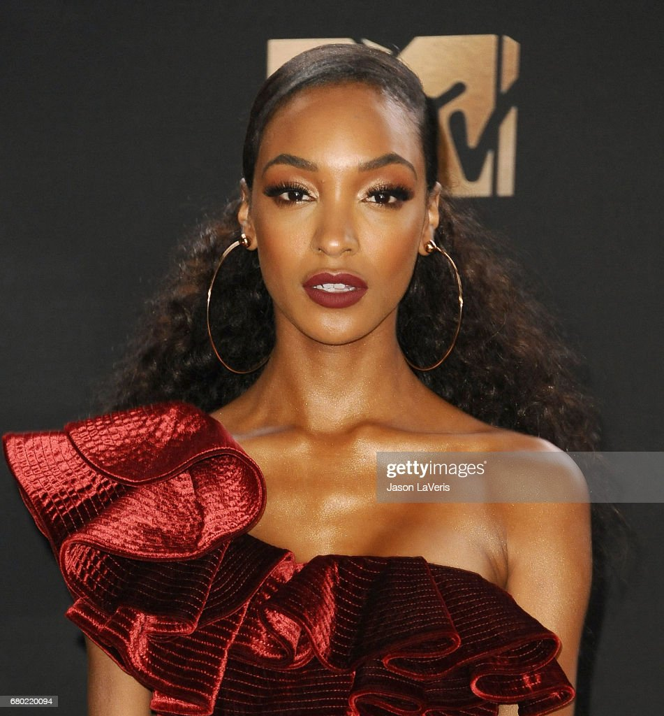 Model Jourdan Dunn poses in the press room at the 2017 MTV Movie and TV Awards at The Shrine Auditorium on May 7, 2017 in Los Angeles, California.