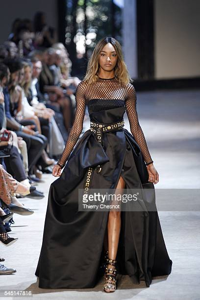 Model Jourdan Dunn walks the runway during the Alexandre Vauthier Haute Couture Fall/Winter 2016-2017 show as part of Paris Fashion Week on July 5,...