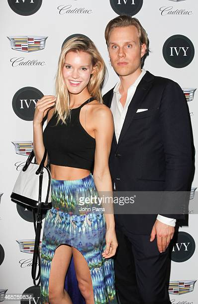 Model Joy Corrigan and Philipp Triebel attend the Miami Innovator Dinner Presented By Cadillac And IVY at The Betsy Hotel on March 4, 2015 in Miami,...