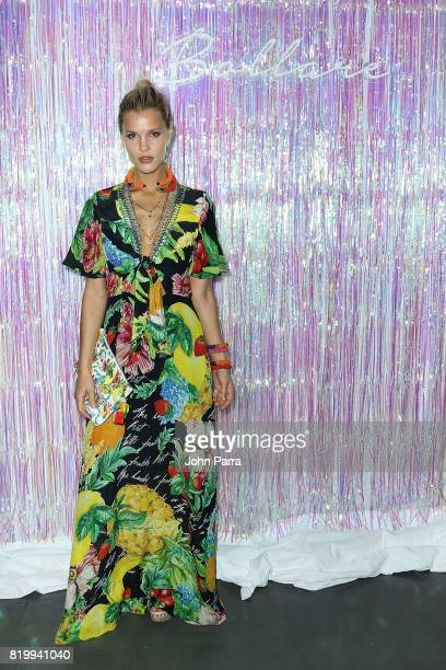 Model Joy Corrigan attends Bollare x The Cobrasnake Miami Swim Week Opening Party At The Miami Beach Edition Basement on July 20 2017 in Miami Beach...