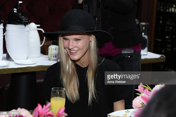 Model Joy Corrigan attends Hearts On Fire x ChapStick Blogger Brunch At Fashion Week at Hotel on Rivington on September 11 2015 in New York City