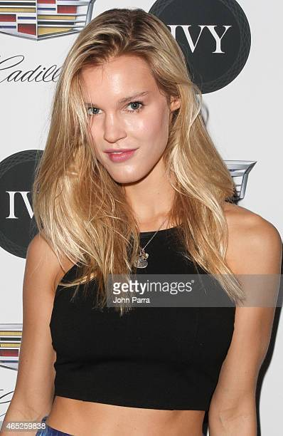 Model Joy Corrigan attends the Miami Innovator Dinner Presented By Cadillac And IVY at The Betsy Hotel on March 4, 2015 in Miami, Florida.