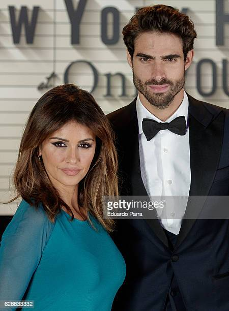 Model Juan Betancourt and actress Monica Cruz attend the Seagrams New York hotel inauguration photocall at Seagrams New York hotel on November 30...