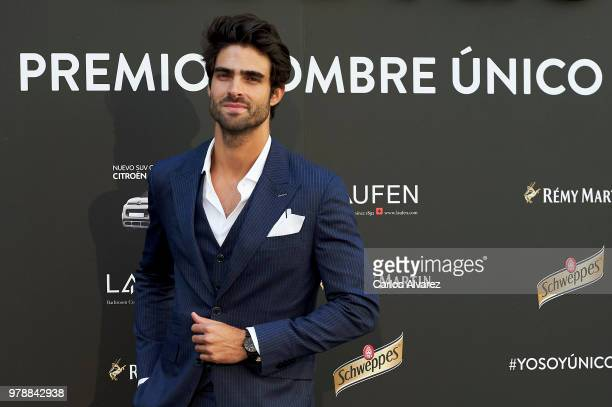 Model Juan Betancourt attends 'Hombre Unico' award 2018 at the Santo Mauro Hotel on June 19 2018 in Madrid Spain