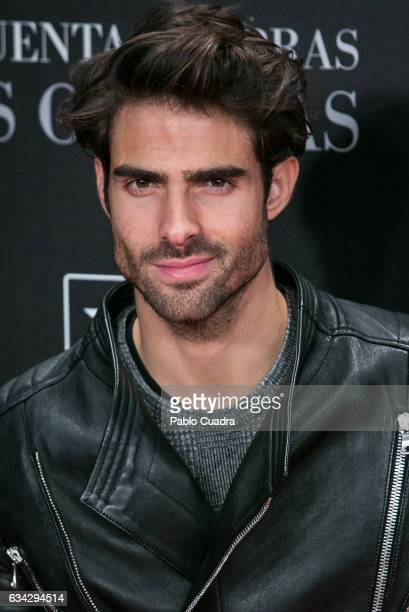 Model Juan Betancourt attends the 'Fifty Shades Darker' premiere at Kinepolis Cinema on February 8 2017 in Madrid Spain