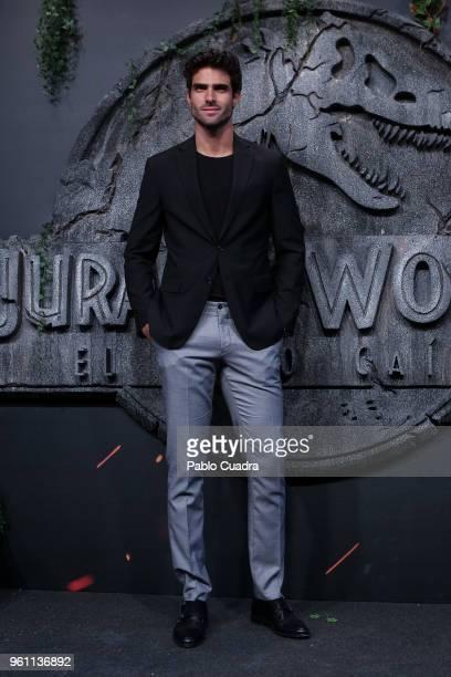 Model Juan Betancourt attends the 'Jurassic World Fallen Kindom' premiere at WiZink Center on May 21 2018 in Madrid Spain