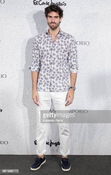 Model Juan Betancourt attends the 'Panos Emporio' photocall at El Corte Ingles store on May 11 2017 in Madrid Spain