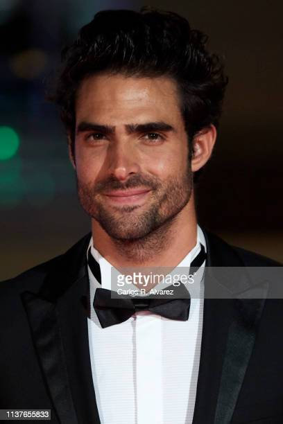 Model Juan Betancourt attends the 'Retrospeciva' award ceremony during the 22th Malaga Film Festival on March 22 2019 in Malaga Spain
