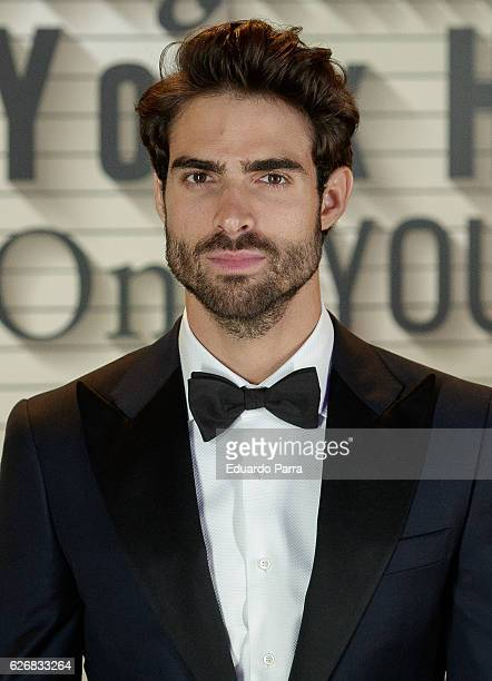 Model Juan Betancourt attends the Seagrams New York hotel inauguration photocall at Seagrams New York hotel on November 30 2016 in Madrid Spain